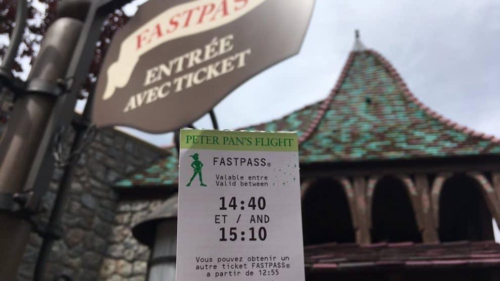 Les tickets Fastpass disponibles à Disneyland Paris